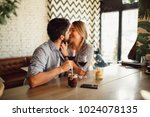 beautiful couple in love is... | Shutterstock . vector #1024078135