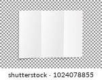blank folded leaflet white... | Shutterstock .eps vector #1024078855