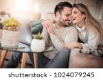 close up of young couple... | Shutterstock . vector #1024079245