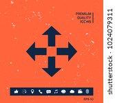 move symbol icon | Shutterstock .eps vector #1024079311
