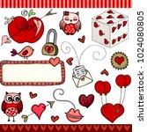 love set digital elements  | Shutterstock .eps vector #1024080805