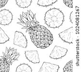 Seamless Pattern Of Pineapple...