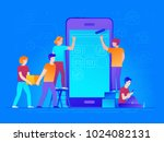 vector illustration in trendy...   Shutterstock .eps vector #1024082131