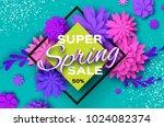 origami violet super spring... | Shutterstock .eps vector #1024082374