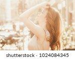 beautiful young caucasian white ... | Shutterstock . vector #1024084345