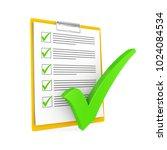 clipboard checklist isolated.... | Shutterstock . vector #1024084534