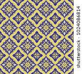 italian tile pattern vector...   Shutterstock .eps vector #1024086814
