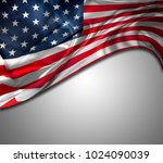 closeup of american flag on... | Shutterstock . vector #1024090039
