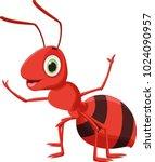 Illustration Of Happy Ant...