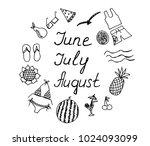 summer months june july august... | Shutterstock .eps vector #1024093099