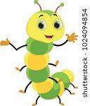 cute caterpillar cartoon | Shutterstock . vector #1024094854