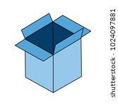 cardboard box open | Shutterstock .eps vector #1024097881