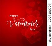 happy valentine's day.... | Shutterstock .eps vector #1024100704