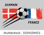 flags of denmark and france  ...   Shutterstock .eps vector #1024104421