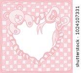 greeting card in scrapbook... | Shutterstock .eps vector #1024107331