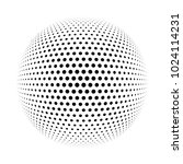 3d halftone ball for your... | Shutterstock . vector #1024114231