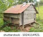 Run Down Chicken Shed In Rural...