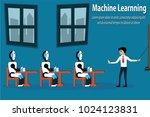 cartoon smart industrial... | Shutterstock .eps vector #1024123831