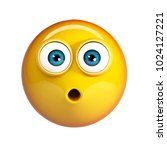 surprised emoji  shocked... | Shutterstock . vector #1024127221