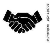 business handshake. icon on... | Shutterstock .eps vector #1024130701
