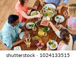 eating and leisure concept  ... | Shutterstock . vector #1024133515