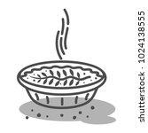 meat pie  quiche vector line... | Shutterstock .eps vector #1024138555