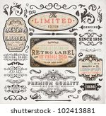 retro label style collection  ... | Shutterstock .eps vector #102413881