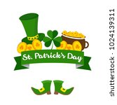 saint patricks day vector... | Shutterstock .eps vector #1024139311