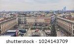 milan  italy   december 31 ... | Shutterstock . vector #1024143709