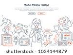 mass media today   modern line... | Shutterstock .eps vector #1024144879