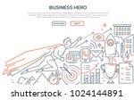 business hero   modern line...   Shutterstock .eps vector #1024144891