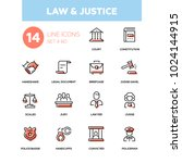 law and justice   line design... | Shutterstock .eps vector #1024144915