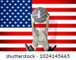 litecoin  ltc  being squeezed... | Shutterstock . vector #1024145665
