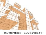 architecture 3d view | Shutterstock . vector #1024148854