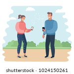 vetor cartoon illustration of... | Shutterstock .eps vector #1024150261