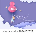 card for 8 march womens day.... | Shutterstock .eps vector #1024152097