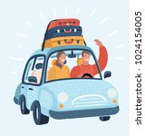 vector cartoon illustration of... | Shutterstock .eps vector #1024154005