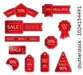 sale vector banner.  sale... | Shutterstock .eps vector #1024154491
