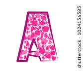 english pink letter a on a... | Shutterstock .eps vector #1024156585