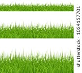 set of green grass elements on... | Shutterstock .eps vector #1024157701