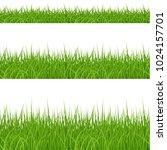 set of green grass elements on... | Shutterstock .eps vector #1024157701