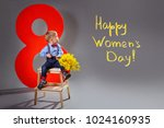 Small photo of International happy women's day March 8. Concept holiday female day.