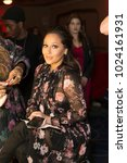 Small photo of New York, NY - February 8, 2018: Adrienne Houghton Bailon prepares backstage for Red Dress 2018 Collection Fashion Show at Hammerstein Ballroom
