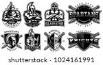 set of logos  badges with... | Shutterstock .eps vector #1024161991
