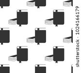 book icon seamless pattern on... | Shutterstock .eps vector #1024166179