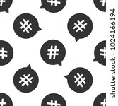 hashtag in circle icon seamless ... | Shutterstock .eps vector #1024166194