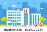 medical institution. hospital... | Shutterstock .eps vector #1024171159