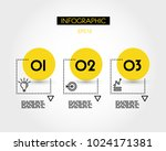 three yellow square options... | Shutterstock .eps vector #1024171381