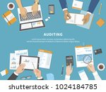 business meeting  audit  ... | Shutterstock .eps vector #1024184785