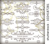 collection of vintage vector... | Shutterstock .eps vector #1024187281
